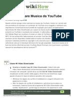 Come Scaricare Musica da YouTube (con Immagini)