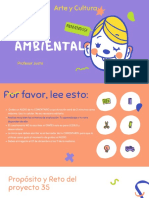 Verde y Azul Divertido Clase de Artes Visuales Educación Presentación