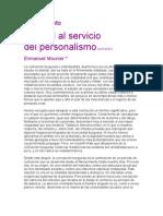 Mounier Emmanuel Manual Al Servicio Del Personalismo