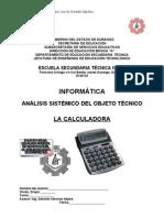 Análisis Sistémico de La CALCULADORA