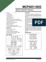 12-Bit DAC with SPImcp4921-2
