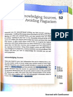 Chapter 52 Acknowledging Sources, Avoiding Plagiarism