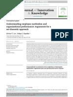 Understanding employee motivation and organizational performance