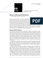 ethics of Nursing Shift Report