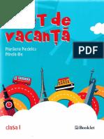 Caiet de vacanta Clasa I, Ed.2018 - Marilena Nedelcu, Mirela Ilie
