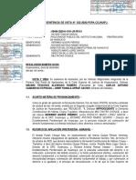 HC Quispe Piñares, Herminio. Exp. 00456-2020.  SENTENCIA DE VISTA. CSJ HUANCAVELICA. CONFIRMARON. SUPLANTACION. FISCALIA PENAL DE TURNO Y COLEGIO DE ABOGADOS DE JUNIN