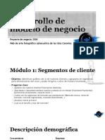 Desarrollo de modelo de negocio. Módulo 1