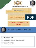 MARKMANSHIP (CAL.45PISTOL) PPT