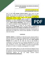 CONTRATO DE DONACIÓN DE BIEN INMUEBLE CON RESERVA DE DERECHO DE USUFRUCTO