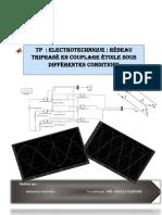 tp 4  Réseau triphasé en couplage étoile sous différentes conditions