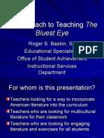 Final for An Approach for Teaching The Bluest Eye
