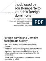 Methods used by Napoleon to administor his foreign dominions