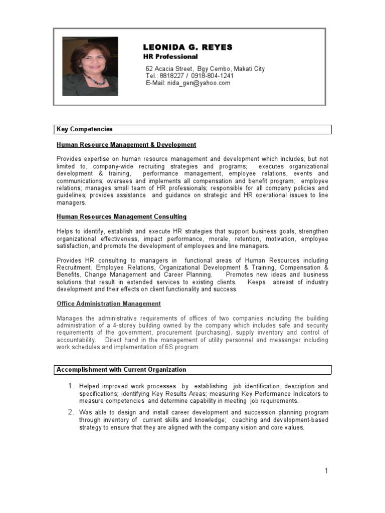LGR Resume_Jan_2010 | Human Resource Management | Human