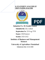 Financial Analysis of Security Paper Limited(Ifra Arshad 2016-Ag-7558)