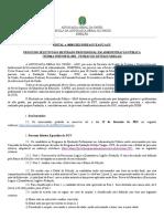 Edital 1-2021 - Processo Seletivo - Mestrado profissional FGV