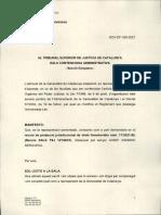 Al·legacions Generalitat TSJC