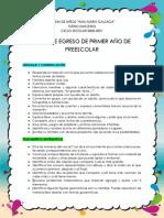 PERFIL DE EGRESO PRIMER AÑO
