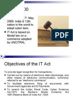 Information Technology Act 2000 an Overview Sethassociatesppt