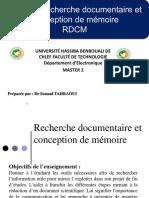 Recherche documentaire et conception de mémoire
