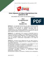 Reglamento Del Codigo de Seguridad Social-ds5315