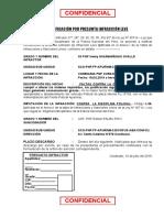 Orden de Sancion 2020