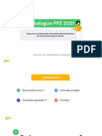 Valeo Tunisie - Catalogue des PFE 2021