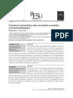 Lastra_Comas El profesor universitario Entre el estímulo económico y la epistemodinámica