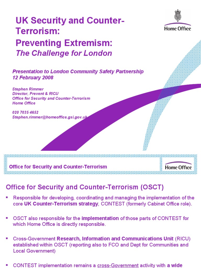 Ricu Ppt on Prevent & Ricus Role