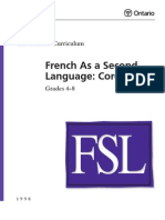 French Ontario Curriculum as second language
