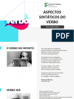 Aspectos sintáticos do verbo - sem fotos