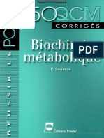 150 QCM Corrigés - Biochimie Métabolique