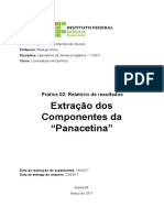 Extração dos Componentes da Panacetina