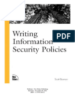 New Riders - Writing Information Security Policies - Barman - 2002