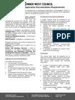 DA documentation requirements
