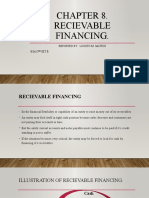 CHAPTER 8. RECIEVABLE FINANCING