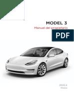 Model 3 Owners Manual North America Es Mx