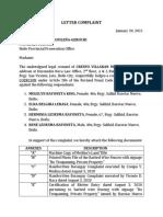 Medina-Letter Complaint