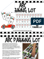 ABC Parking Lot an Engaging Aligned Letter Recognition Activity