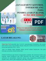 Management Kontrol Infeksi Silang PPT Webinar 2020 JKG Sabtu 11 Juli