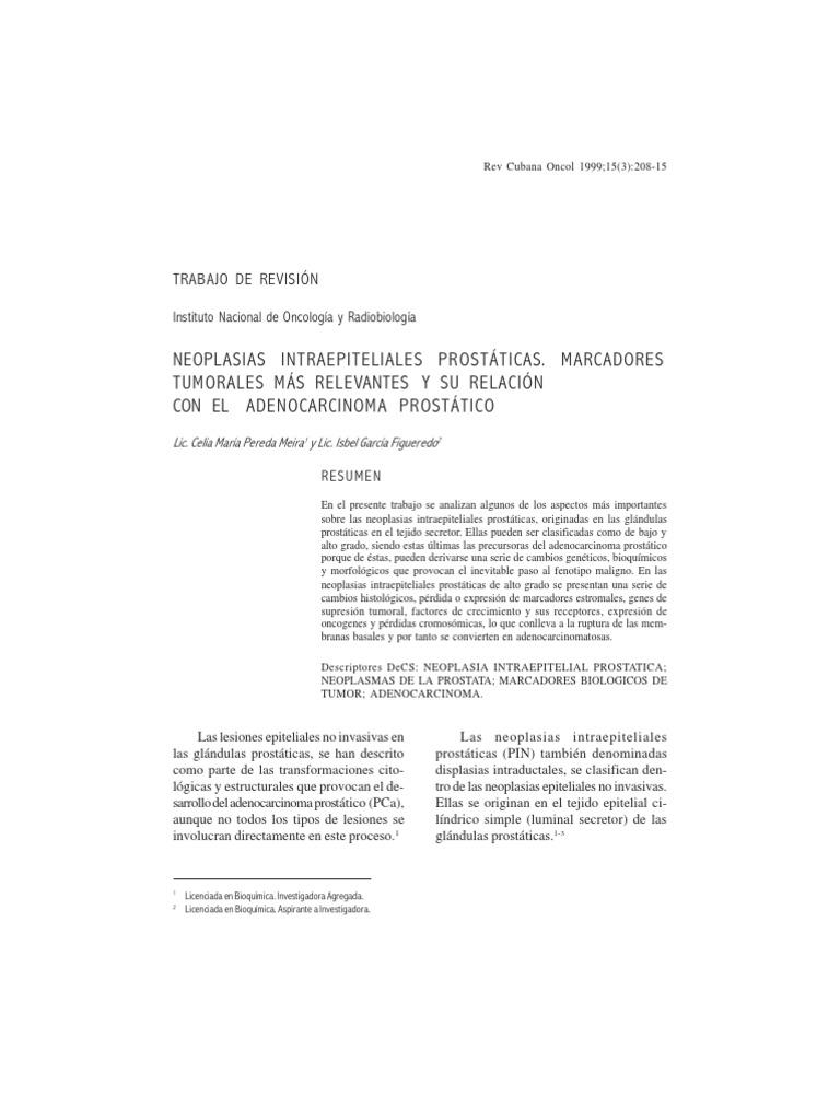 adenocarcinoma prostático secretor de hormonas