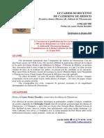 Collectif Le Cahier de Recettes de Catherine de Medicis