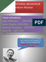 Organisational Behaviour PROJECT Presentation