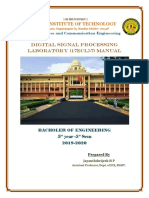 VTU DSP LAB MANUAL(17ECL57,18ECL57)
