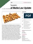Social Media Law Udpate Sept 2010