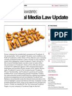 Social Media Law Udpate Sept 2010