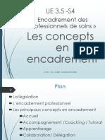 Les concepts en encadrement des professionnels de soins 2018-2019