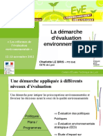 1- La d Marche Evaluation Environnementale