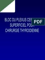 Bloc Plexus Cervical