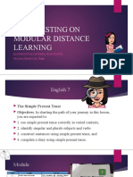 My Pilot Testing on Modular Distance Learning