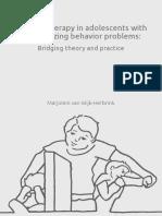 Schema Therapy in Adolescents With Externalizing Behavior Problems Bridging Theory and Practice Marjolein Van Wijk